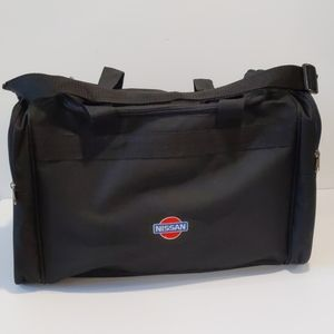 Nissan black duffel bag